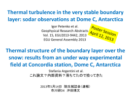 Thermal turbulence in the very stable boundary layer: sodar