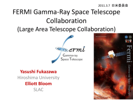 FERMI Gamma-Ray Space Telescope Collaboration