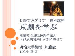 パワポ「京劇と梅蘭芳」