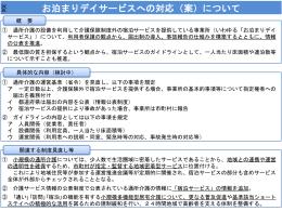お泊まりデイサービスへの対応(案)について(PPT:108KB)