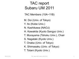 TAC report - Subaru Telescope