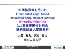 ES-FEM - 東京工業大学