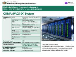 COMA (PACS-IX)紹介