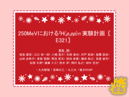 250MeVにおける 2 H (p, pp)n実験計画(E321)