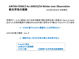 AIRT40+TONIC2 for JARE53/54 Winter