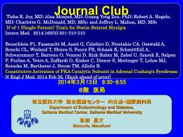 PowerPoint - 埼玉医科大学総合医療センター 内分泌・糖尿病内科