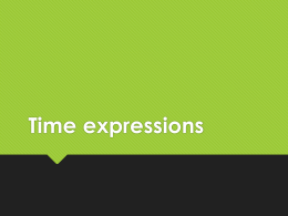 Time expressions - Japanese Teaching Ideas