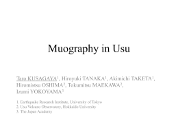Muography in Usu