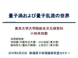 pptx - 東京大学駒場原子核理論研究室