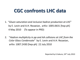 Gluon saturation and inclusive hadron production at LHC