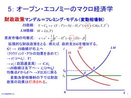 第5章 オープン・エコノミーのマクロ経済学