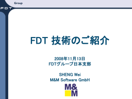 FDT/DTM - M&M Software Extranet