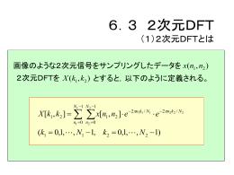 3 2次元DFT