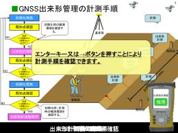 GNSS出来形管理の計測手順