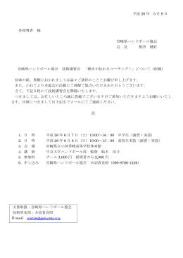 案内 - 宮崎県ハンドボール協会