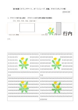 図の配置と演習