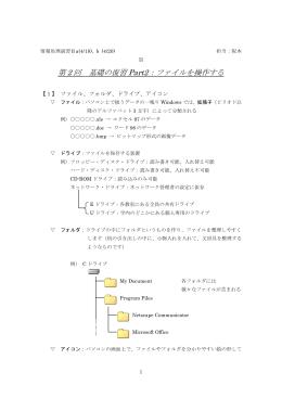情報処理演習Ⅱa(4/22), b, c, d(4/20) 担当:阪本 崇