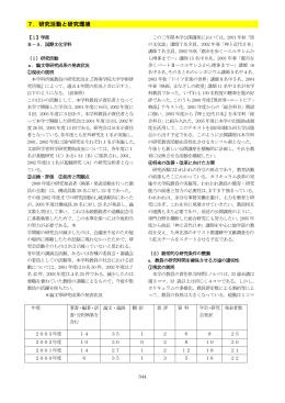 7.研究活動と研究環境【1】