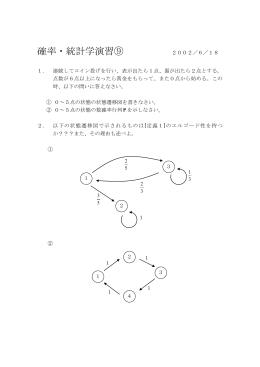 確率・統計学演習 2002/4/16