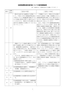 佐賀県耐震改修促進計画についての意見募集結果 (※「反映区分」の