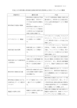 平成20年度和歌山県相談支援従事者初任者研修A日程