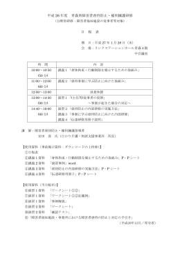 日程表(1月28日)従事者