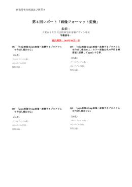 レポート内容・雛形(Report04)