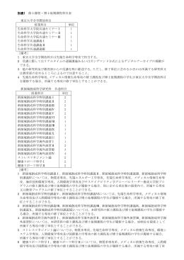 別表1 - 東京大学