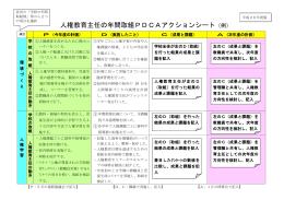 (例)【県立】人権教育PDCAアクションシート[DOC:57KB]