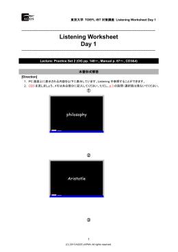 Worksheet Day 1