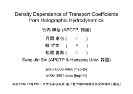 Density Dependence of Transport Coeffecients from Holographic