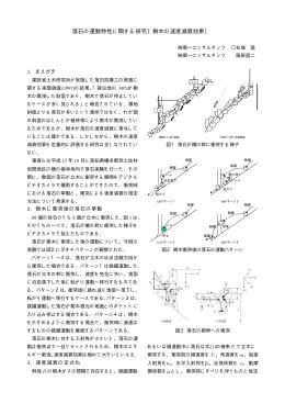 落石の運動特性に関する研究(樹木の速度減衰効果)
