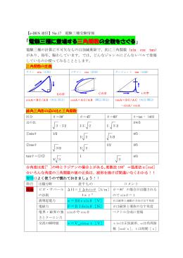 No.17「電験三種に登場する三角関数の全貌をさぐる」