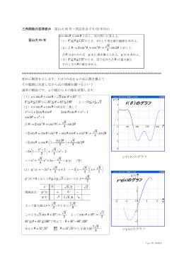 45)三角関数式の増減を空間表示(富山大05年など)