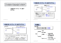 Computer Languages Lecture9 手続き
