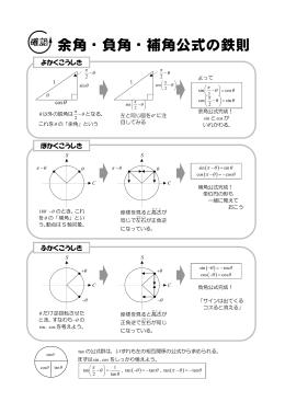 余角・負角・補角公式の鉄則