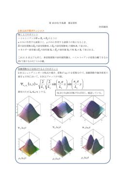 = Ψ y L n x L n LL yx sin sin 22 ,