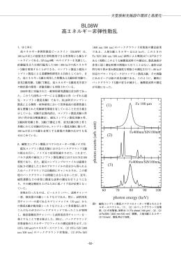 BL08W 高エネルギー非弾性散乱 - SPring-8
