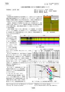 土留め掘削問題に対する FEM 解析の適用について H - 02