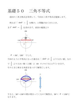 基礎50 三角不等式