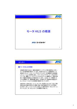 モータ HILS の概要