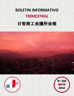 BOLETIN INFORMATIVO TRIMESTRAL 日智商工会議所会報