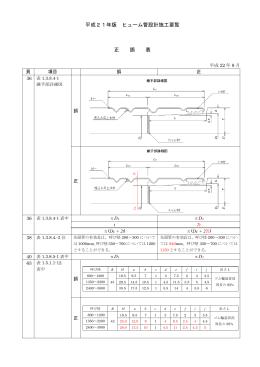 平成21年版 ヒューム管設計施工要覧 正 誤 表
