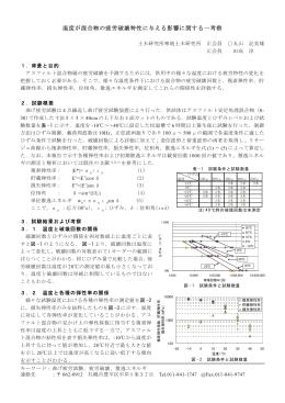 温度が混合物の疲労破壊特性に与える影響に関する