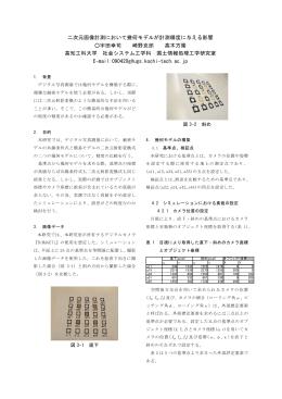 二次元画像計測において幾何モデルが計測精度に与える影響 宇田幸司 崎