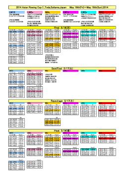 Heat 5/16(金) SemiFinal 5/17(土) Repechage 5/17(土) Final 5/18(日