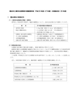 横浜市工業用水道事業中期経営計画(平成 23 年度~27 年度)の実施