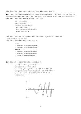今回は他プログラムで作成したデータに基づいてグラフを描画する方法を