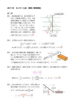2011年度 センター物理本試問題解説