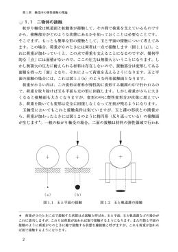 1.1 二物体の接触
